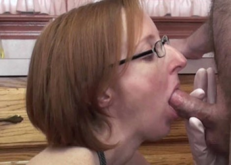 Layla Redd sucks a cock in the kitchen