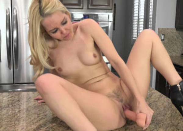 Aaliyah Love masturbates in the kitchen