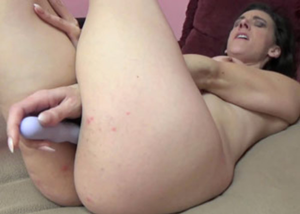 Alora sticks a toy inside her hot twat