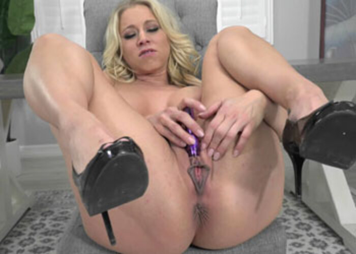 Katie Morgan uses a vibrator to get off