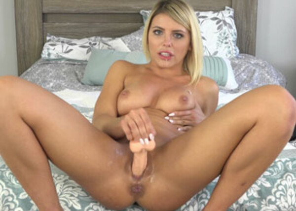 Adriana makes herself squirt with a toy
